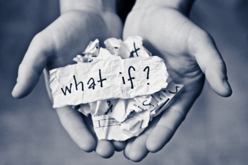 "Don't waste time asking ""what if?"""
